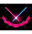Crossed light sabers vector | Price: 1 Credit (USD $1)