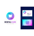 dental stomatologic logo and business card vector image