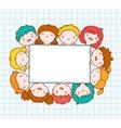 Doodle kids blank frame vector image vector image