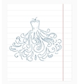 dress of notebook paper doodles vector image vector image