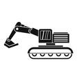excavator icon simple vector image vector image