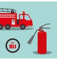 fire truck emergency vehicle vector image vector image