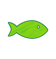 fish sign lemon scribble vector image vector image