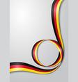 german flag wavy background vector image vector image