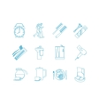 good morning time line art icons vector image vector image