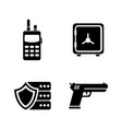 guard simple related icons vector image