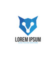 head fox icon design concept with low poly style vector image vector image