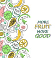Healthy colorful fruits background vector image vector image