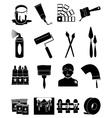 House paint icons set vector image vector image