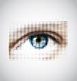 human eye halftone pattern vector image vector image