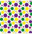 mardi gras polka dots pattern repeating texture vector image vector image