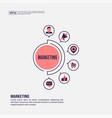 marketing concept for presentation promotion vector image vector image