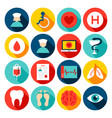 medical hospital flat icons vector image vector image