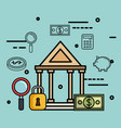 money related objects design vector image
