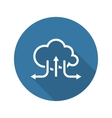 Online Cloud Solutions Flat Design Icon Long vector image vector image