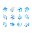 online shopping and delivery - modern isometric vector image