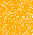 Orange easter seamless pattern with eggs flowers vector image vector image