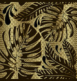 palm leaves ornate seamless pattern ornamental vector image vector image