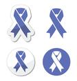 Periwinkle ribbons set - eating disorder symbol vector image vector image
