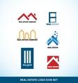 Real estate logo set vector image vector image