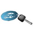 rent a car symbol vector image vector image