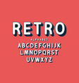 retro bold font and alphabet rounded letters with vector image vector image