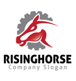 Rising Horse Design vector image vector image
