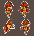 Royal Flycatcher abstract cartoon vector image vector image