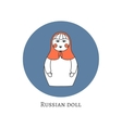 Russian traditional wooden toy icon Babushka vector image vector image