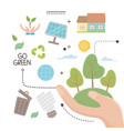 save energy and ecology icon set design vector image