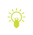 shining light bulb icon on white vector image
