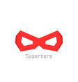 simple red superhero mask icon vector image vector image