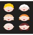 Six faces of cute women vector image