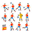 spain football team spain soccer players full vector image vector image