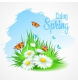 Spring greeting card with daisies vector image vector image
