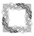 square black and white frame vector image vector image