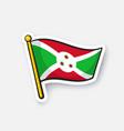 sticker flag burundi vector image vector image