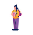 student doodle icon vector image