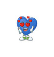 super cute falling in love blue love cartoon vector image vector image
