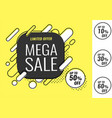 super sale weekend special offer banner vector image