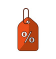 tag with percent symbol vector image