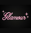 text with pink glitter glamour on dark vector image