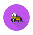 tractor icon on round background vector image