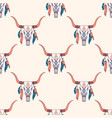 tribal seamless pattern with bull skull and vector image vector image