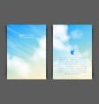 two-sided vertical flyer a4 format vector image