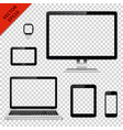 various modern electronic devices with transparent vector image vector image