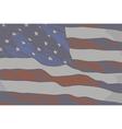 VINTAGE FLAG USA vector image