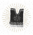 vintage label hand drawn poncho mexican vector image vector image