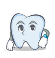 waiting tooth character cartoon style vector image vector image