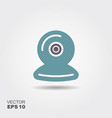 webcam icon in flat style isolated on grey vector image vector image